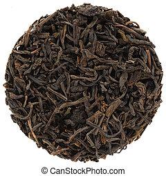 First Grade Liubao Dark Tea isolated in round shape