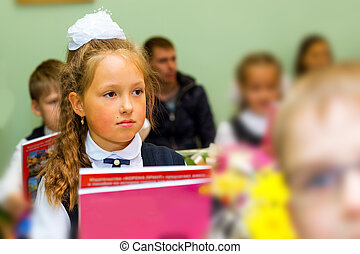 First grader, day of knowledge - 1. September - Little...