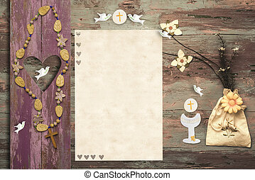 First Holy Communion invitation card - First Communion...
