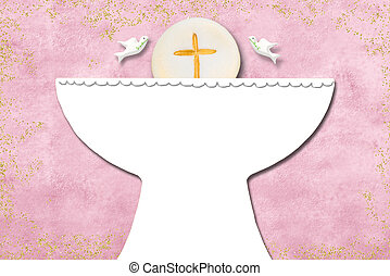 First holy communion invitation card.