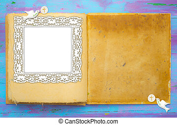 First Holy Communion photo frame card