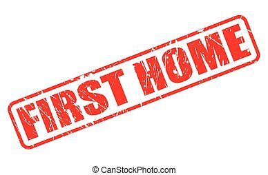 FIRST HOME red stamp text