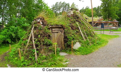"""""""first houses of norwagian tribes from prehistorical times,..."""