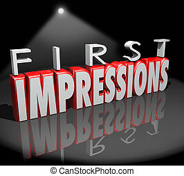 First Impressions Spotlight Introduction Debut Meeting New ...