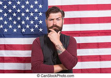 first., july., flag., celebración, norteamericano, ...