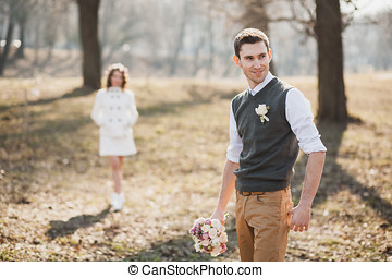 first meeting of bride and groom