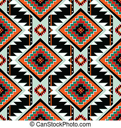 First nations seamless pattern