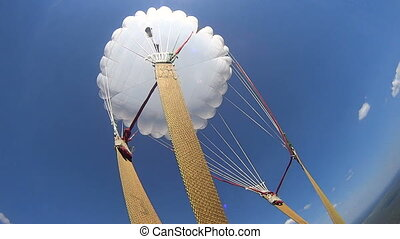 First parachute jump