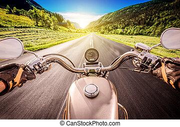 first-person, motard, vue