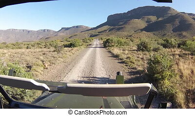 Karoo National Park - First person view game drive on...