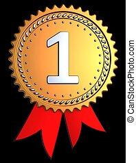 First place award ribbon (Hi-Res)