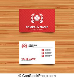 First place award sign icon. Prize for winner. - Business...