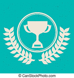 first place over blue background vector illustration