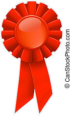 First place red ribbon, vector