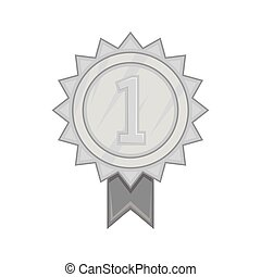 First place ribbon rosette icon