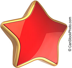 First place star shape symbol - Star shape rating symbol red...