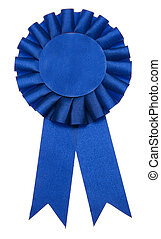 First Prize - A blue ribbon is a symbol for success and...