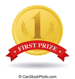 first prize   - first prize gold medal and red banner