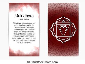 First, root chakra - Muladhara.