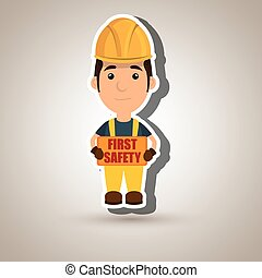 first safety worker icon