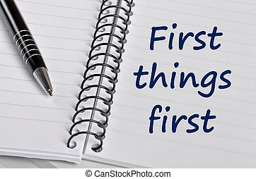 First things first words on notebook