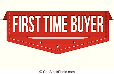First time buyer banner design on white background, vector ...