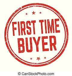 First time buyer sign or stamp on white background, vector ...