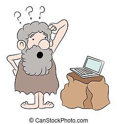 First Time Computer User - An image of a cartoon ...