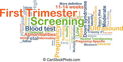 First trimester screening background concept - Background...