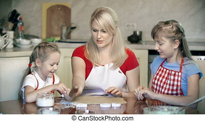 First Try is a Mess - Mother teaching daughters to shape...