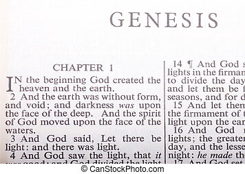 First Verses of the Bible - The beginning verses of Genesis ...