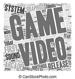 first video game system 1 text background wordcloud concept