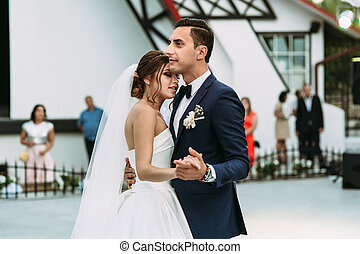 First wedding dance of the young married couple