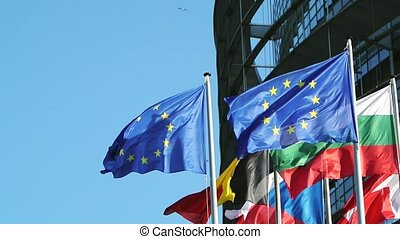 Firsts EU countries flags - Firsts European Union countries...