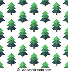 Firtree in isometric style on a white background.