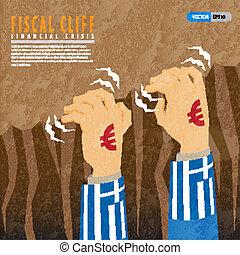 fiscaal, klip, financieel, crisis, griekenland