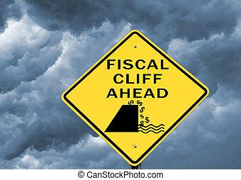 fiscaal, waarschuwend, klip