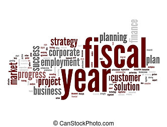 fiscaal, woord, wolk, jaar