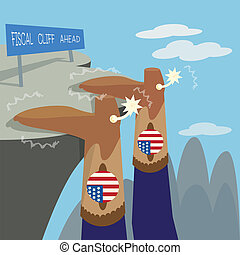 Fiscal Cliff - Fiscal cliff financial crisis illustrated...