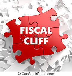 Fiscal Cliff on Red Puzzle. - Fiscal Cliff on Red Puzzle on...