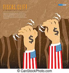 fiscal, financier, crise, falaise