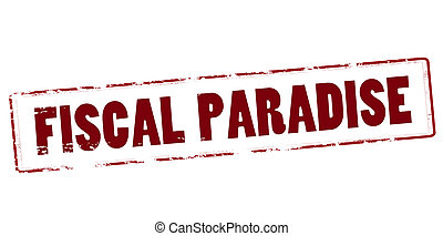 Fiscal paradise - Rubber stamp with text fiscal paradise...