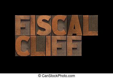 fiscal, penhasco, palavras, em, antigas, madeira, tipo