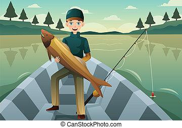 fische, fischer, besitz
