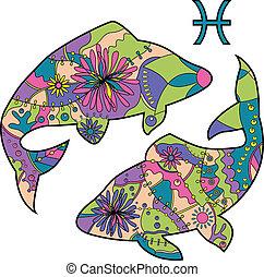fische, tierkreis, zeichen