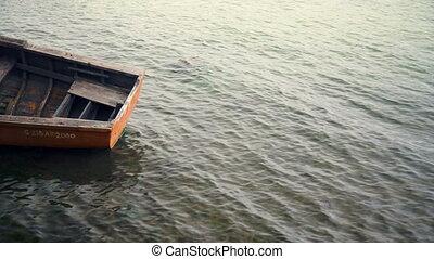 fischer boat in calm water