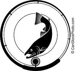 fischerei, abzeichen