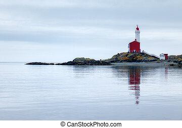 Fisgard Lighthouse, Fisgard Lighthouse Historical Site Victoria Vancouver Island, British Columbia