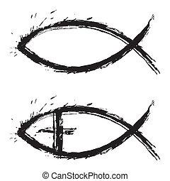 fish, χριστιανόs