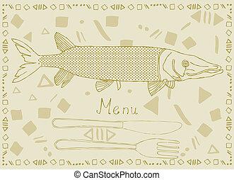 fish, イラスト